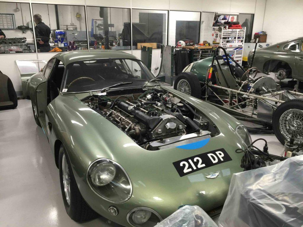 Automobile in showroom
