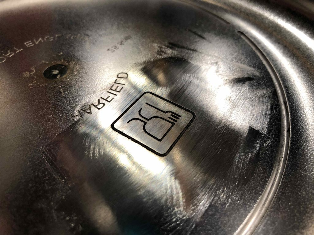 Laser Engraved Food Safe Logo on a Mould